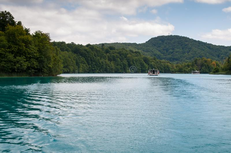 Lake Kozjak, Plitvice Lakes, National Park, Croatia. Lake Kozjak in National park of Plitvice Lakes situated in Northern Croatia. Picture was taken during summer royalty free stock photos