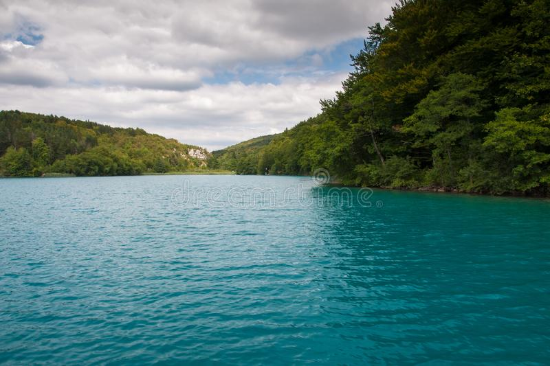 Lake Kozjak, Plitvice Lakes, National Park, Croatia. Lake Kozjak in National park of Plitvice Lakes situated in Northern Croatia. Picture was taken during summer royalty free stock photography