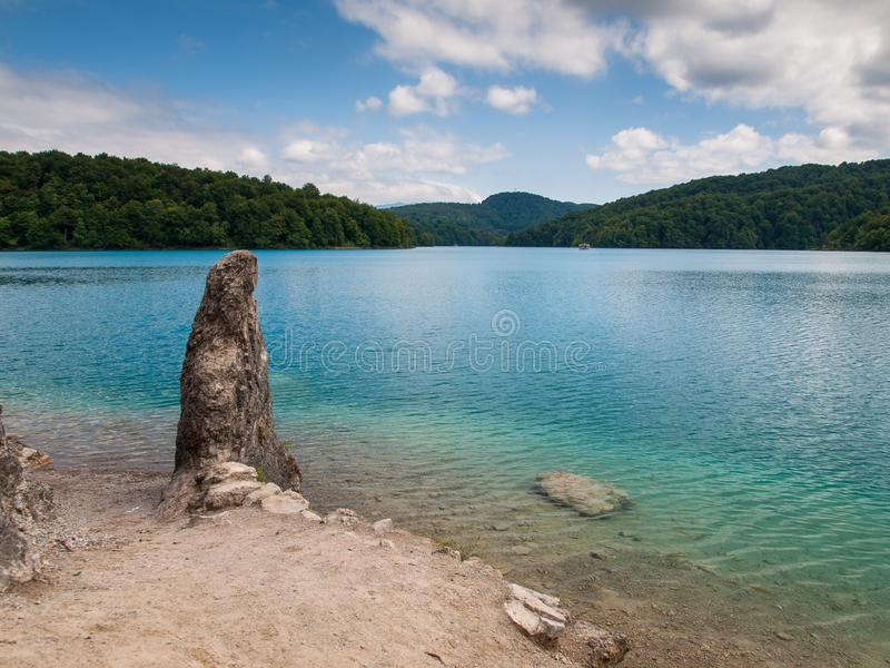 Lake Kozjak, Plitvice Lakes, National Park, Croatia. Lake Kozjak in National park of Plitvice Lakes situated in Northern Croatia. Picture was taken during summer royalty free stock image