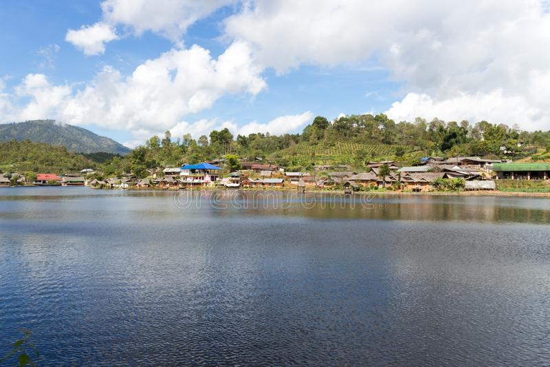 Lake in the Kuomintang Chinese village of Mae Aw or Baan Rak Thai, Mae Hong Son, Thahiland.  royalty free stock photo