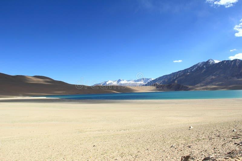 Lake Kyagar Tso, Ladakh, India. royalty free stock image