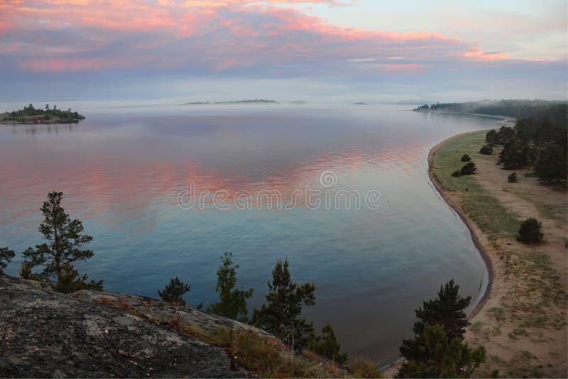 Lake Ladoga, Karelia, Russia Stock Image - Image of beach ...
