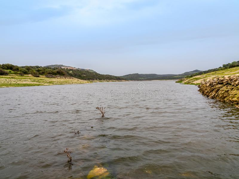 Lake Lago del Temo στο νησί της Σαρδηνίας στοκ φωτογραφία με δικαίωμα ελεύθερης χρήσης
