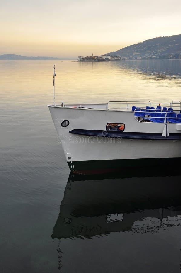Lake - lago - Maggiore, Italy. Borromeo islands and ferry stock images
