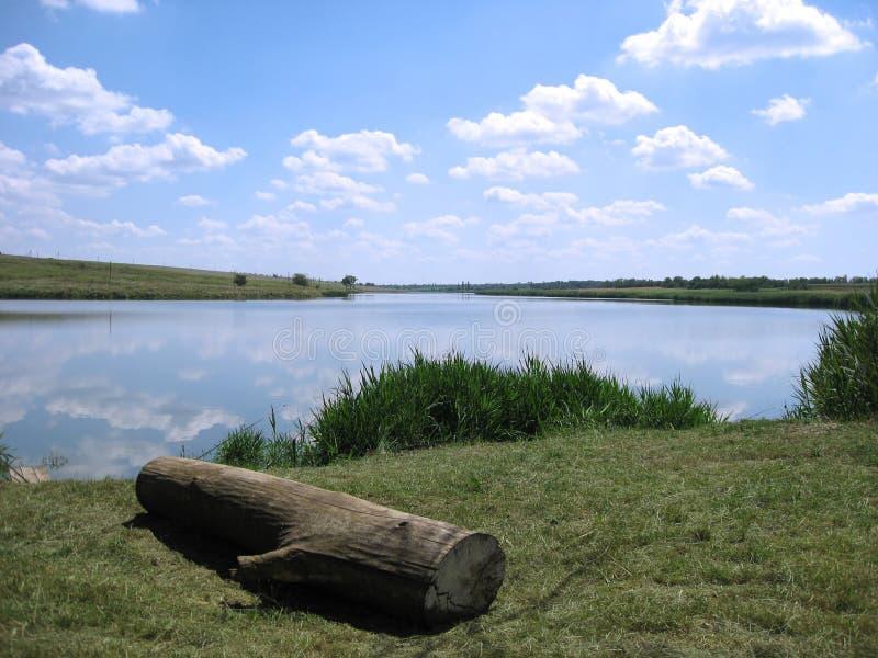 Lake landscape stock image
