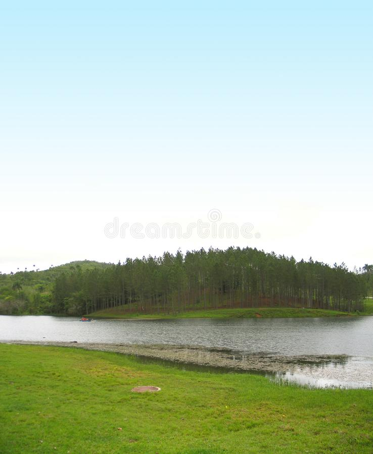 Lake landscape with copyspace royalty free stock photos