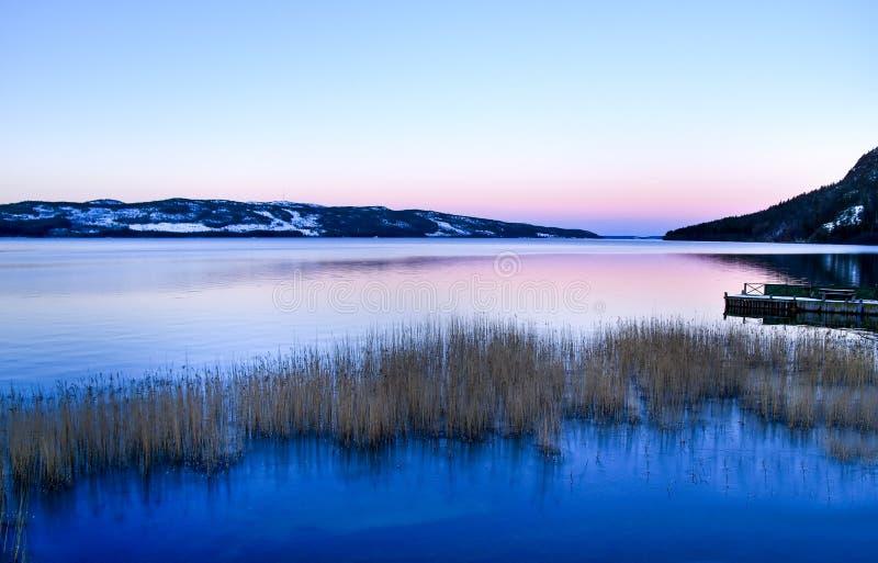 lake lapland arkivfoton
