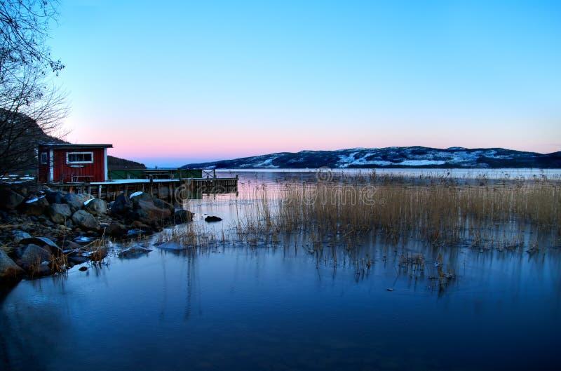 lake lapland royaltyfri bild