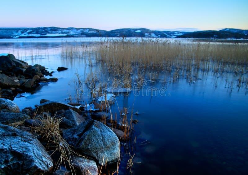 lake lapland arkivbilder