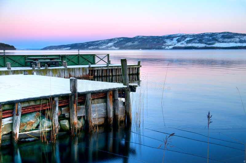 lake lapland arkivbild