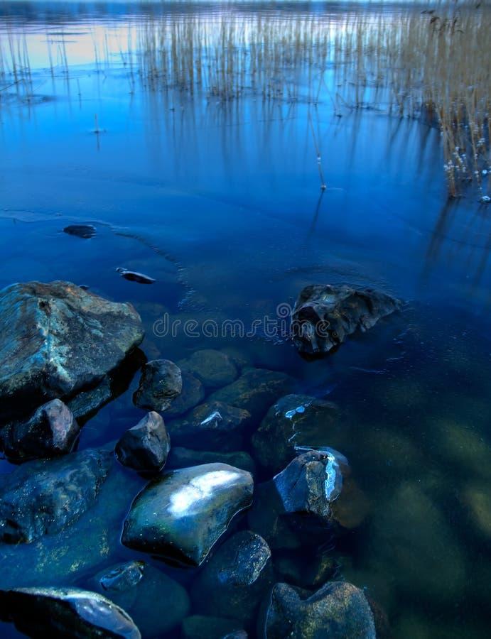 lake lapland royaltyfria foton