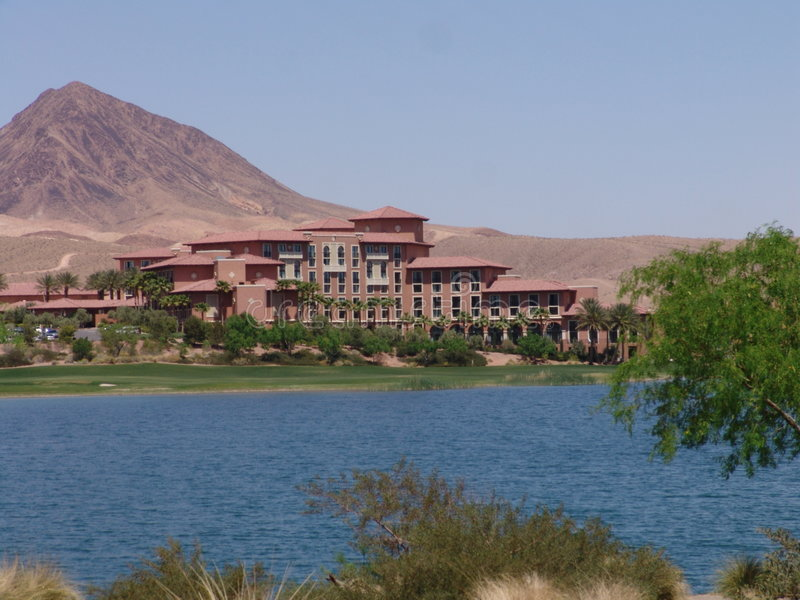 Lake Las Vegas stock photo