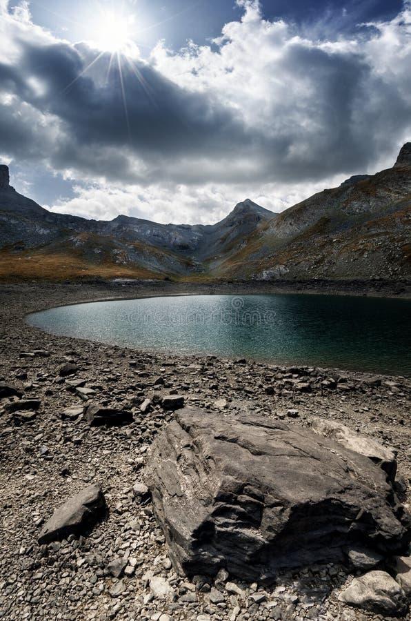 Lake of Lauzanier royalty free stock photos