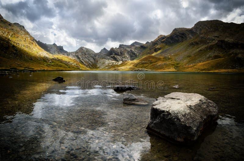 Lake of Lauzanier stock image