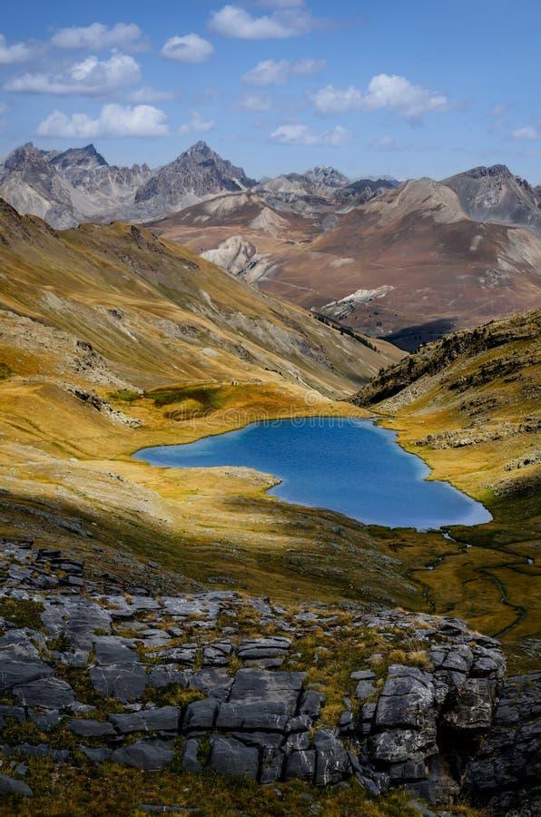 Lake of Lauzanier stock photo