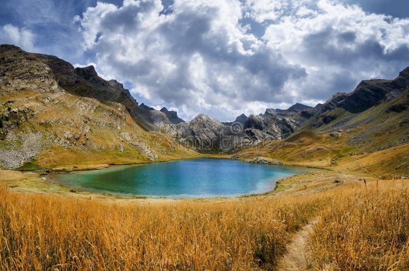Lake of Lauzanier royalty free stock images