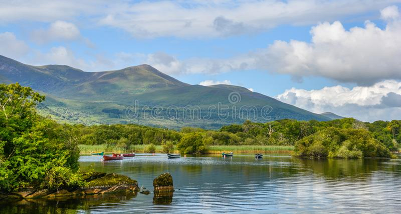 Lake Leane in a sunny morning, in Killarney National Park, County Kerry, Ireland. stock image