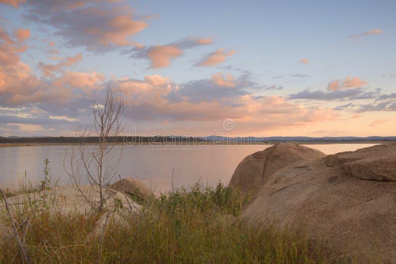 Lake Leslie in Queensland stock photo