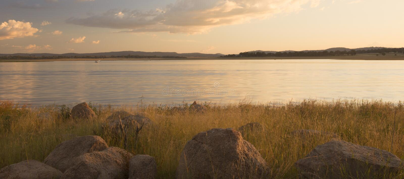 Lake Leslie in Queensland stock image