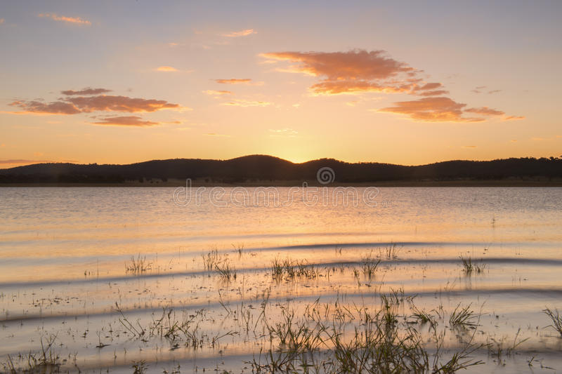 Lake Leslie in Queensland stock images