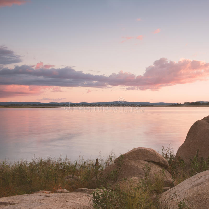 Lake Leslie in Queensland. Lake Leslie near Warwick, Queensland in the late afternoon stock image