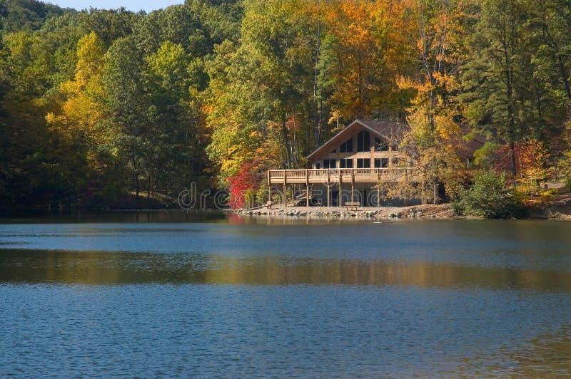 Lake Lodge royalty free stock photography