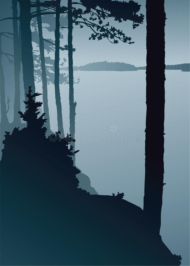 Lake Lookout royalty free illustration