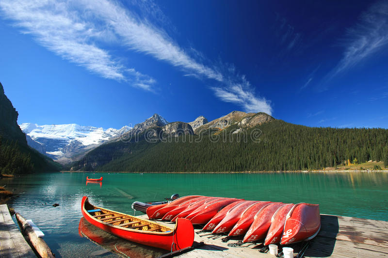 Lake Louis, Banff National Park stock photo