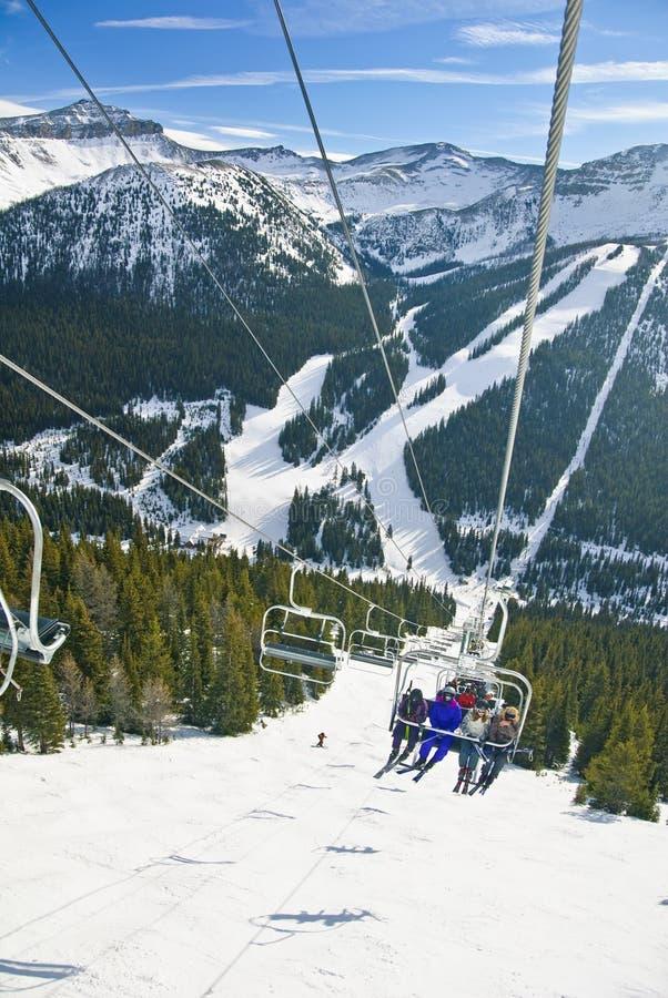 Lake Louise手段滑雪 免版税库存照片
