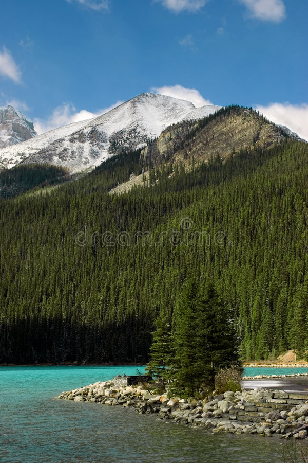 Lake louise. A view of Lake Louise in early winter royalty free stock image