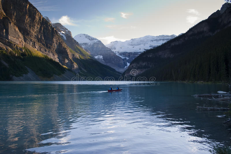 Lake Louise. A view of the amazing and scenic lake Louise in the Banff national park,Canada stock photography