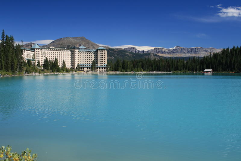 Lake Louise. A view of Lake Louise on a sunny September day royalty free stock image