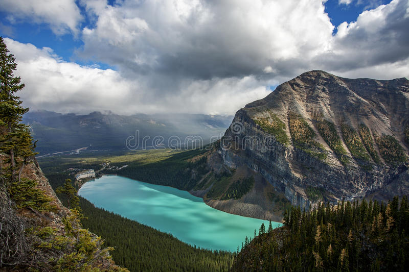 Lake Louise. Seen from the Big Beehive royalty free stock images