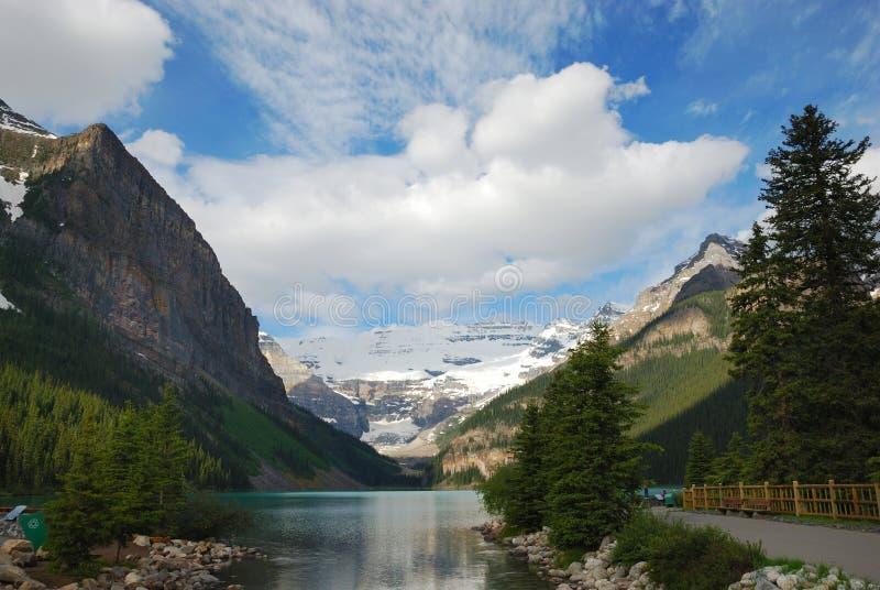 Lake Louise. In Canadian Rockies Alberta Canada stock photo