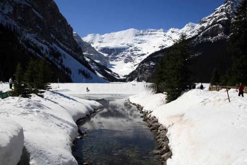 Lake Louise, Alberta stockbilder