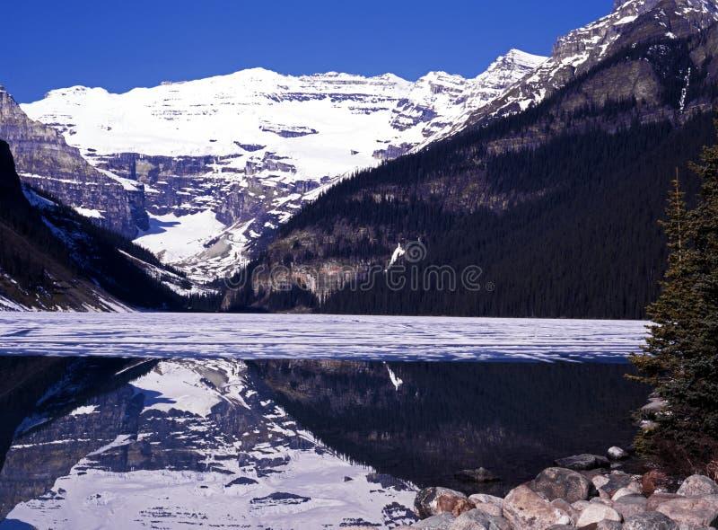 Lake Louise, Alberta, Canadá. fotografia de stock royalty free