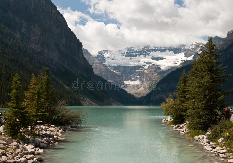 Lake Louise, Alberta, Canada. Beautiful view of Lake Louise, Alberta, Canada stock images