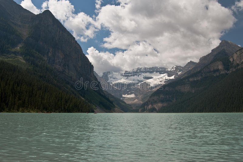 Lake Louise, Alberta, Canada. Beautiful view of Lake Louise, Alberta, Canada royalty free stock photography