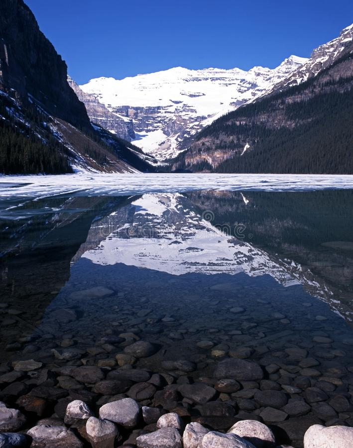 Lake Louise, Alberta, Canada. immagini stock libere da diritti