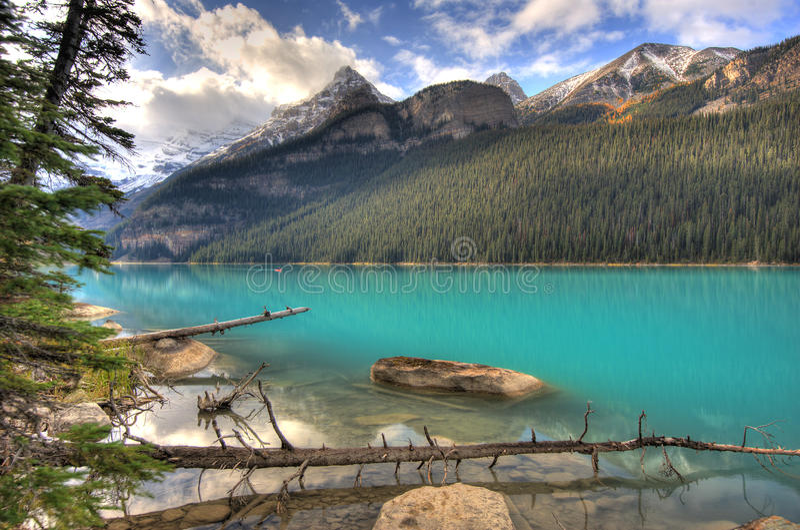 Lake Louise - Alberta, Canada fotografia stock