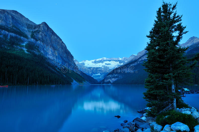 Lake Louise, Banff National Park. In Alberta Canada royalty free stock images