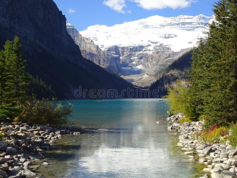 Lake Louise in Banff National Park in Alberta, Canada. Lake Louise in Banff National Park in Alberta in Canada stock photo