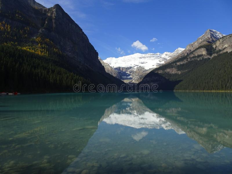 Lake Louise in Banff National Park in Alberta, Canada. Lake Louise in Banff National Park in Alberta in Canada royalty free stock image