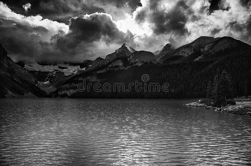 Lake Louise in Banff National Park royalty free stock photography