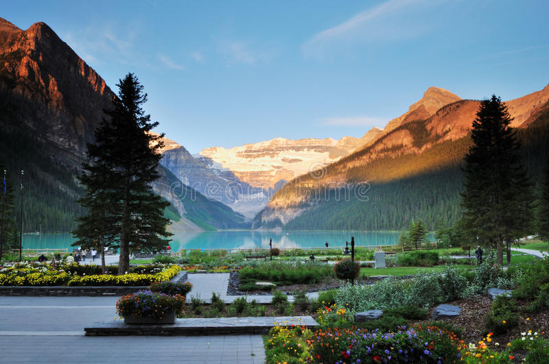 Lake Louise, Banff-Nationalpark stockfotografie