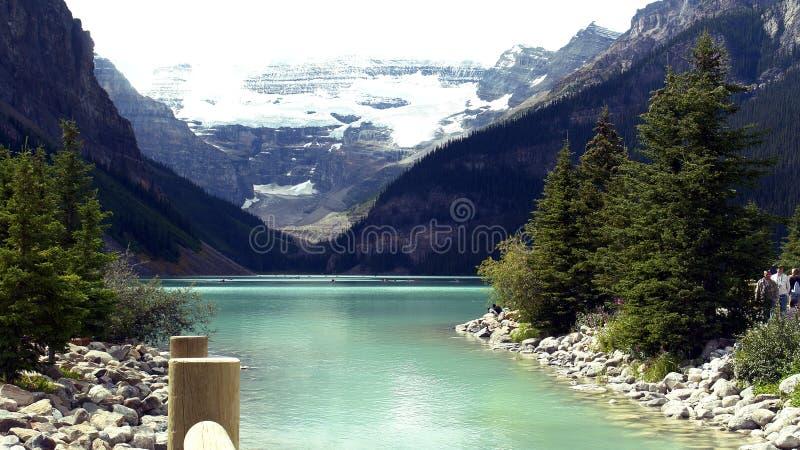 Lake Louise, Canada. Beautiful Lake Louise. A glacier fed green coloured lake in Alberta, Canada stock photos