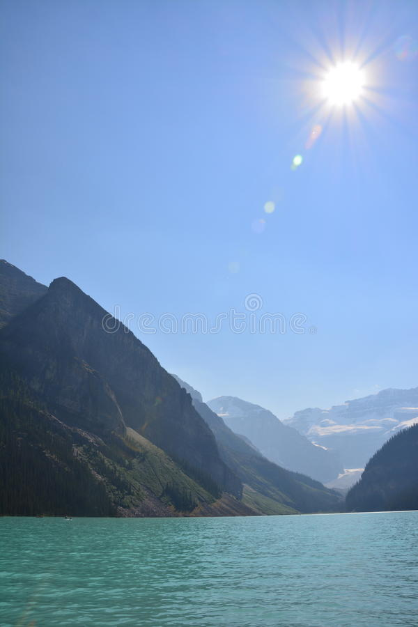 Lake Louise Canada. Lake Louise in the summer, Banff national park Canada royalty free stock photo