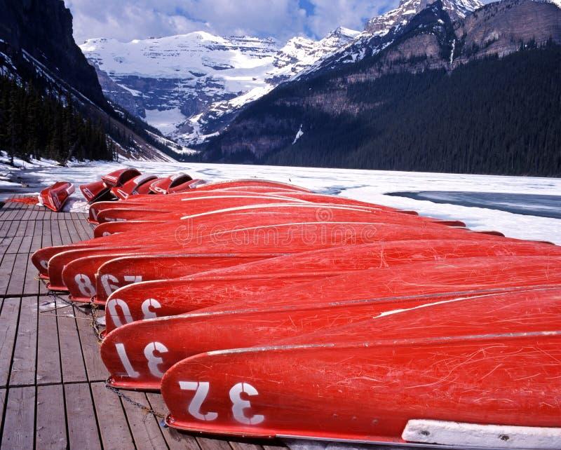 Lake Louise congelado, Alberta, Canadá. foto de stock royalty free