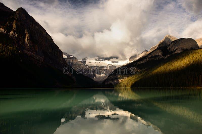 Lake Louise. Landscape featuring Lake Louise from Banff National Park. Sunrise stock images