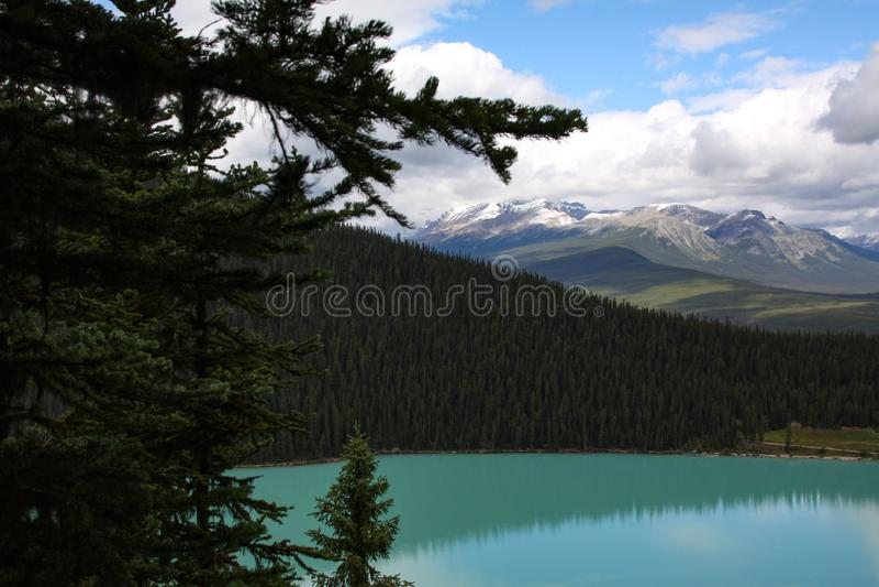 Lake Louise fotografering för bildbyråer